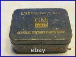 RARE 1930s 1940s 1950s GM Accessory Emergency Kit Tin Chevrolet Buick Pontiac