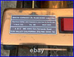 RIVIERA ESPRESSO MACHINE PARTS OR REPAIR VINTAGE Model 20888 Made In Italy