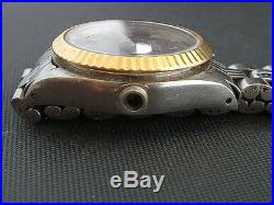 Rolex 2-tone Date Ladys Model Missing Case Back And Automatic Movement Parts