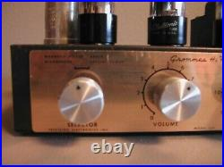 Rare Vintage Grommes Model LJ2 Hi Fidelity Tube Amplifier Amp Parts or Repair
