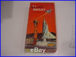 Rare, unused MIB 1957 AURORA RYAN x-13 VERTIJET model kit parts still sealed