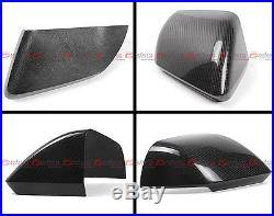 Real Carbon Fiber Side Mirror Covers For 2015-17 Ford Mustang With Led Signal Gt