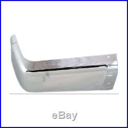 Rear Bumper End Caps Set For 2007-2013 Silverado Sierra Rear Chrome