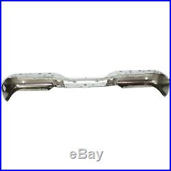 Rear Step Bumper For 2005-08 Ford F-150 Chrome Steel with parking aid sensor holes