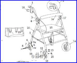 Replacement Parts for Drive R726 Model Rollator