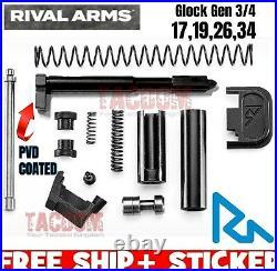 Rival Arms Upper Slide parts Completion Kit for Glock Gen 3 4 Model 17 19 26 34