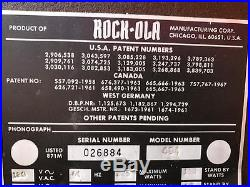 Rock-Ola Juke-Box model 484 for parts/repair Rockola Local Pickup Only