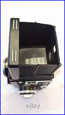 Rolleiflex Model K4F1 TLR Camera 3.5F-75mm f3.5 and extra parts & case