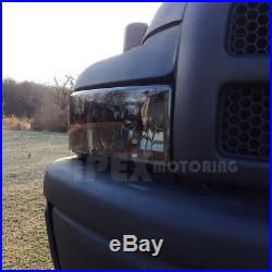 SHINY SMOKE For 1997-2001 Dodge Ram 1500 SPORT Headlights With Corner Lights