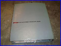 Satoh Tractor Model 650G Parts Book Repair Manual / Service Bulletins