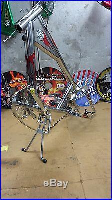 Schwinn Stingray, OCC, Chopper Bicycle, Chrome and Red Model, Frame, Plus Parts