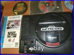 Sega CD Model 2 Console genesis parts or repair broken lot Batman and robin