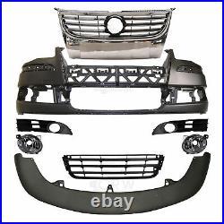 Set Stoßstange vorne+Nebel+Zubehör für VW Touran 1T 1T2 Bj. 06-10 kein PDC SRA