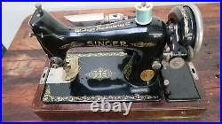 Singer Sewing Machine Model 99-13 With Case & Key + Many Extra Original Parts