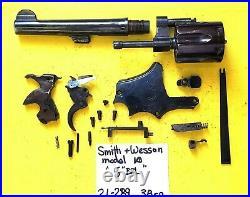 Smith & Wesson 38 SP. PRE MODEL 10 GUN PARTS LOT DIAMOND GRIPS ITEM # 21-289