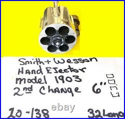 Smith Wesson Hand Ejector Model 1903 32 Long Nickel Parts Lot Item #20-138