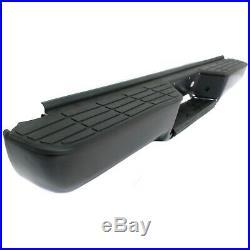 Step Bumper 95-99 Chevy Tahoe 92-99 K1500 Suburban Black withpads Fleet Styleside