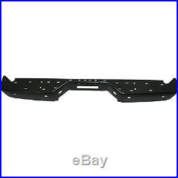 Step Bumper For 2004-2015 Nissan Titan with Park Sensor Holes Steel Black Rear