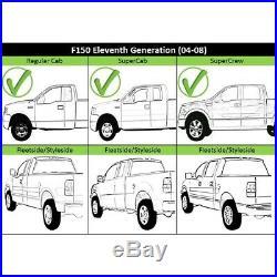 Step Bumper For 2006-2008 Ford F-150 Fleetside Chrome Steel Rear