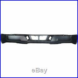 Step Bumper For 2007-13 Toyota Tundra Fleetside With Rock Warrior Pkg Black Rear