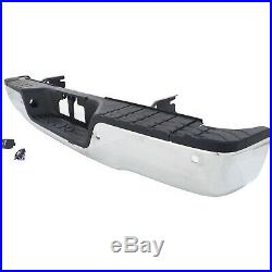 Step Bumper For 2007-2013 Toyota Tundra Assembly With Sensor Holes Chrome Rear