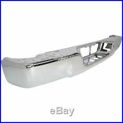 Step Bumper For 2007-2013 Toyota Tundra Fleetside Steel Chrome Rear