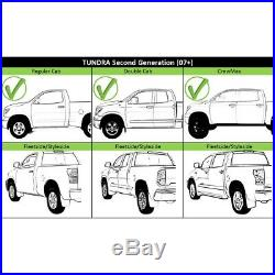 Step Bumper For 2007-2013 Toyota Tundra With Park Sensor Holes Chrome Rear