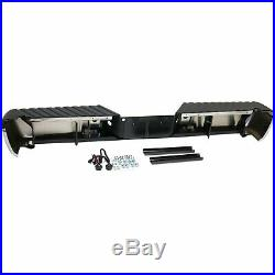 Step Bumper For 2008-2016 Ford F-250 SD With Chrome Face Black Pad Steel Rear