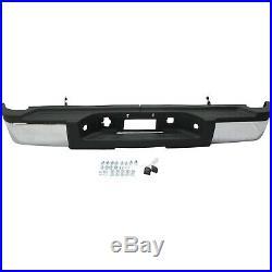 Step Bumper For 2011-2013 Chevrolet Silverado 2500 HD Steel Chrome Rear