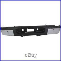 Step Bumper For 2011-2013 Chevy Silverado 2500 HD With Sensor Holes Chrome Rear