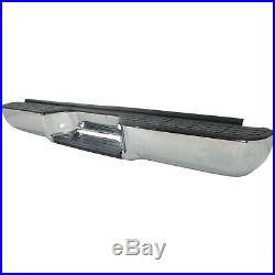 Step Bumper For 88-98 Chevrolet C1500 Chrome Steel Fleetside