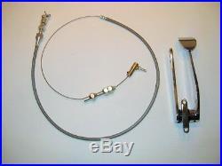 Street Rat Rod Chrome Spoon Gas Throttle Pedal With Bonus 24 Braided Cable