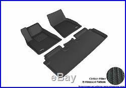 TESLA Model 3 2017-19 KAGU U-ACE 3D Frt Rear Floor Liners MAXpider L1TL00401509