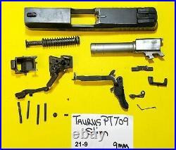 Taurus Model PT709 SLIM IN 9 MM BLUED GUN PARTS LOT ITEM # 21-9
