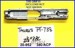 Taurus Model PT738, PT 738 TCP 380 STAINLESS STEEL GUN PARTS LOT ITEM # 20-952