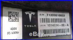 Tesla Model S 85 kWh kilowatt Battery Pack Parts Like New Low Miles EV Electric