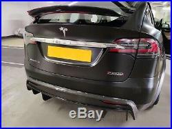 Tesla Model X Carbon Fiber Body kits Front Lip Diffuser Side Skirt Spoiler
