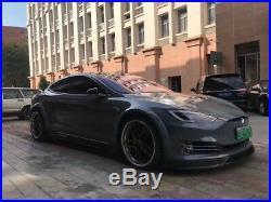 Tesla Model s Carbon Fiber Wide Body Kit Front Lip Diffuser Side Skirt Spolier