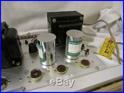The Fisher Model X-101-B Tube Amp Stereo Master Control Amplifier for parts Read
