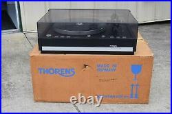 Thorens Turntable Model TD-126 Mk III One Owner For Parts or Repair