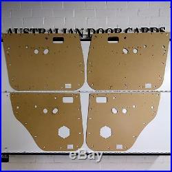 Toyota 80 Series Land Cruiser Masonite Door Cards / Trim Panels Electric Model