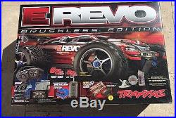 Traxxas E-Revo 1/10 Brushless Edition Model 56087-1 with Many Spare Parts