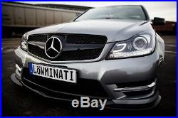 USR AMG Projector LED Headlight For 12-14 Mercedes W204 C Class + DRL/Switchback