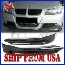 US Carbon Fiber Front Splitter Lip Spoiler For 06-08 BMW E90 E91 325i 325xi FM