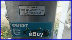 Used Crest Model# 275HTA 3/4 gallon ultrasonic parts cleaner