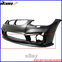 V1 Style PU Front Bumper Lip For 11-13 BMW E92 LCI Models With M4 Style Bumper