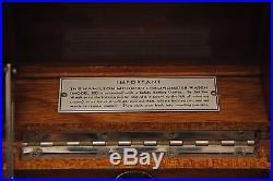 Vintage Hamilton Watch Co Model 22 Ships Chronometer Wooden Box Case Parts