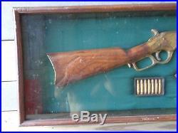 Vintage Winchester Model 1886 Shadow Display Box Remington Gun Parts
