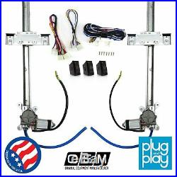 VW Aircooled Power Window Regulator Kit with 3 LED Switches T1 2 4 bus bug ghia