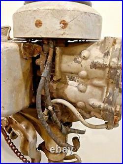 Vintage 1940s Johnson Model LT10 Outboard Boat Motor Engine Untested Parts Resto